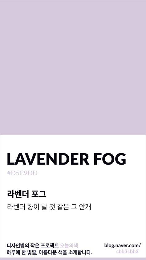 [오늘의 빛: 오늘의 색] 백만개의 보라색, 라벤더 포그 : 네이버 블로그