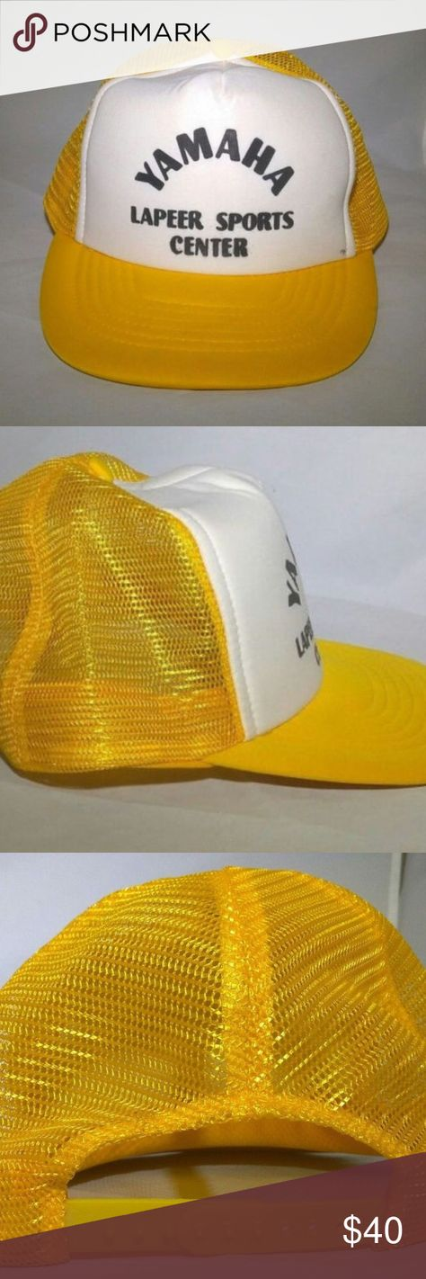 f15bd9d7871 Yamaha Racing Cap Mesh 80 s Lapeer Sports Hat Old - Yamaha Lapeer Sports  Center Mesh Back Trucker Hat with SnapBack.. It s in great condition