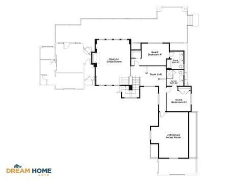 Discover the Floor Plan for HGTV Dream Home 2019 | home | Floor