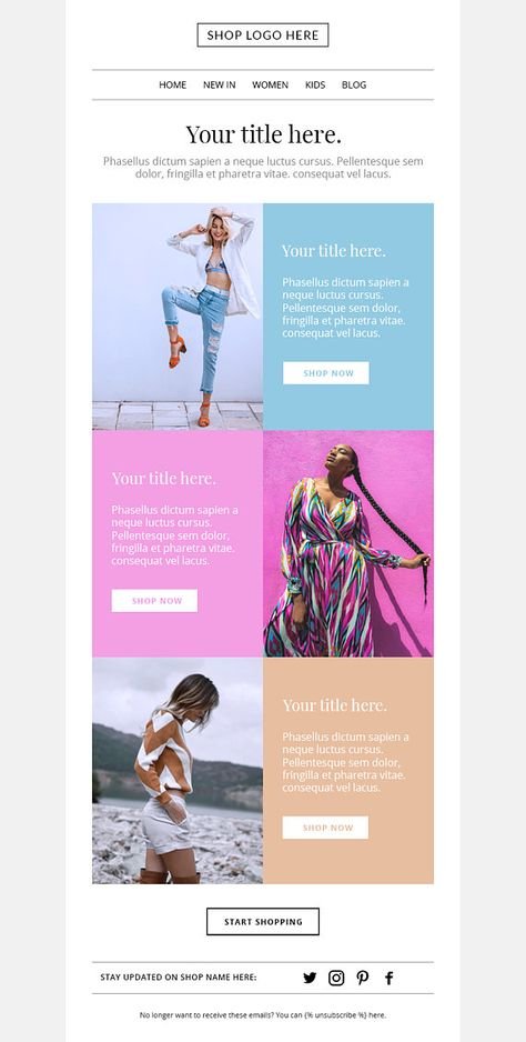 Mailchimp email template Email newsletter template Email | Etsy