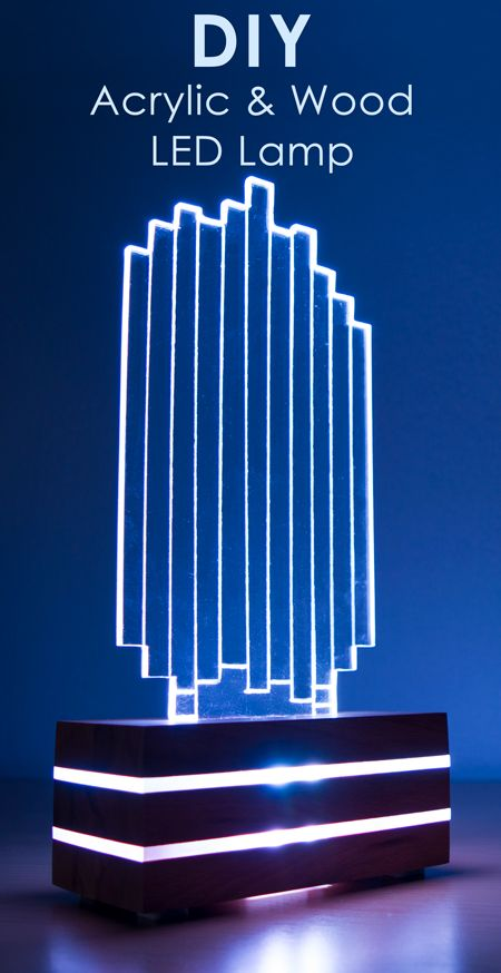 DIY Acrylic Color-Changing LED Lamp | Engraving Acrylic