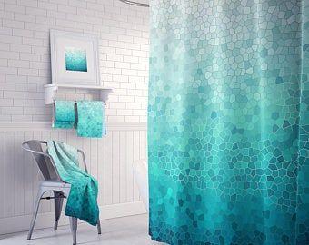 mosaic shower curtain set