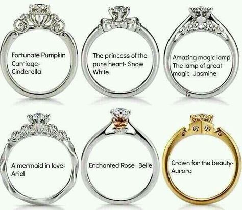 Disney Rings I'm officially in love. Just wish Aurora's tribute ring was white gold!!
