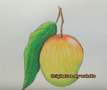 Kunst Zeichnungen How To Draw Mango Fruit Step By Step Easy With