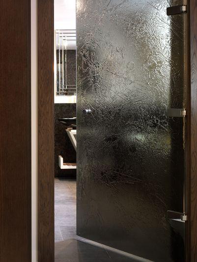 Ice Textured Glass Door Glass Shower Doors
