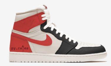 Air Jordan 1 Retro High Og Sail University Red Air Jordans