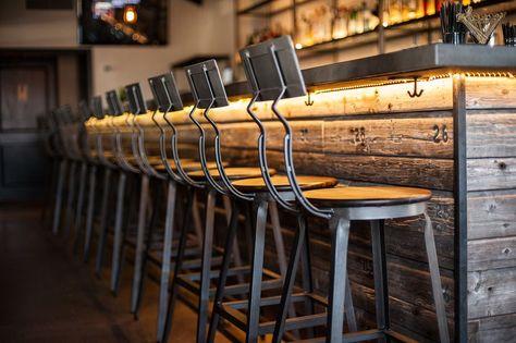 Notice bar back and bar stools