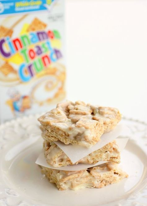 Cinnamon Toast Crunch Bars @ Katie...imagine how many different kinds we could come up with, with our mutual love of cereal??? Of course with your brothers input as well!