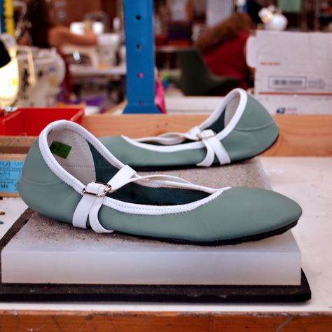 836aab3995c9 Custom Shoe of the Week  Ballerines in Pacific with White Trim.