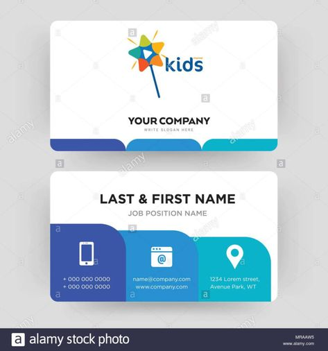 Kids Channel Business Card Design Template Visiting For Pertaining To Id Card Tem Business Card Template Design Id Card Template Free Business Card Templates
