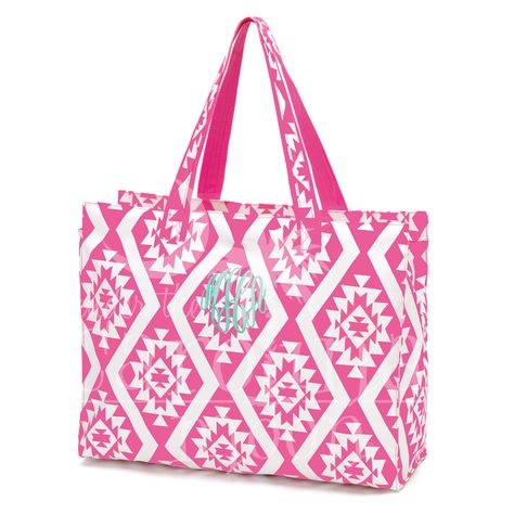 This Patterned Beach Bag is perfect for the pool boat or the beach. We also have matching cooler bag, accessory bag, and coozie. You can place your order online at www.underthecarolinamoon.com #UTCM #UnderTheCarolinaMoon #Beach #BeachBag