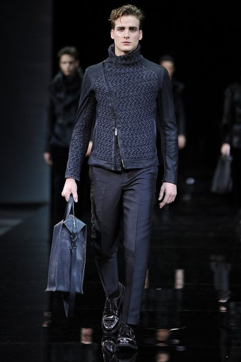 Emporio Armani Men's RTW Fall 2014 - Slideshow - Runway, Fashion Week, Fashion Shows, Reviews and Fashion Images - WWD.com