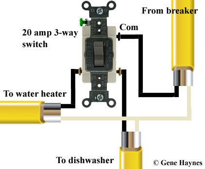 How to wire under counter water heater to same circuit with