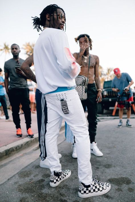 Men's Fashion Flash: Quavo, Offset, and Takeoff of the Migos Wear Rochambeau, Gucci, and Raf Simons for New Music Video with Sean Paul (The Fashion Bomb Blog)