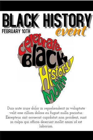 New Poster Templates For Black History Month Design Studio In 2021 Black History Month Posters Black History Black History Month