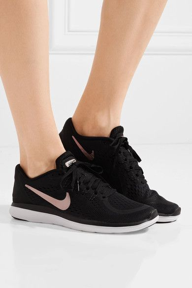 Black Flex 2017 RN mesh sneakers   Nike