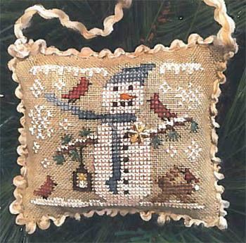 Avery/'s Cycling Santa Ornament Homespun Elegance Cross Stitch Pattern