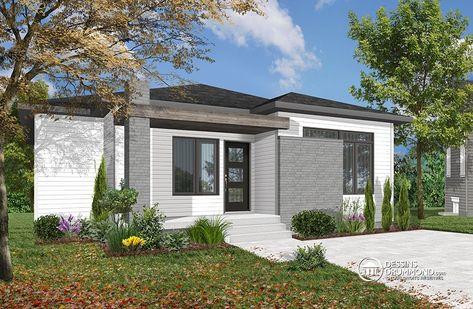 251 best maison contemporaines et plans de maisons urbaines images on pinterest bedrooms bungalow house plans and contemporary homes