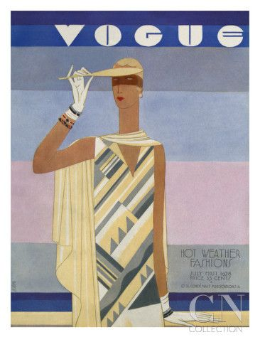 Vogue Cover - July 1928 Poster Print by Eduardo Garcia Benito at the Condé Nast Collection