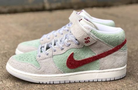7abafeab33c8 Nike SB and Todd Bratrud have cultivated a fuzzy suede Dunk SB Mid themed  after the world famous  White Widow