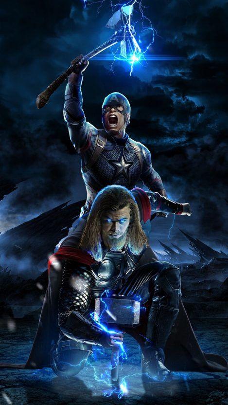 Captain America And Thor Avengers Endgame Battle Iphone
