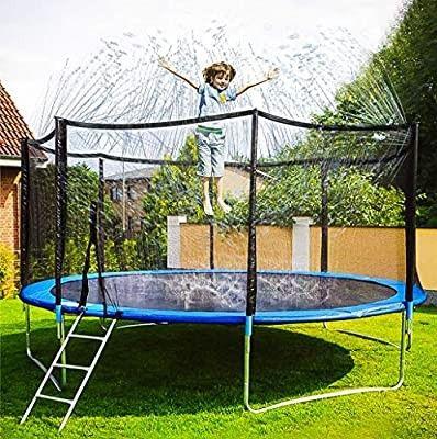 Neoformers Trampoline Sprinkler Water Park Outdoor Water Game Sprinkler For Trampoline Fun Summer In 2020 Backyard Water Parks Outdoor Trampoline Water Trampoline