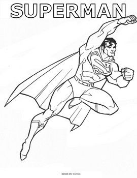 Superman Fly Away Superman Coloring Pages Free Printable Ideas