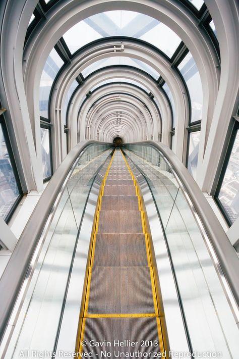 Escalator to the sky in #Osaka, #Japan