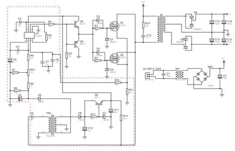 Smps Circuit Diagram Using Mosfet | Smps Power Amplifier Using 2 Mosfet Transistor Electronica