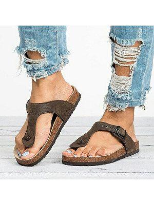 Plain Flat Peep Toe Casual Comfort Slippers Women Shoes Womens Sandals Flip Flop Shoes Casual Sandals