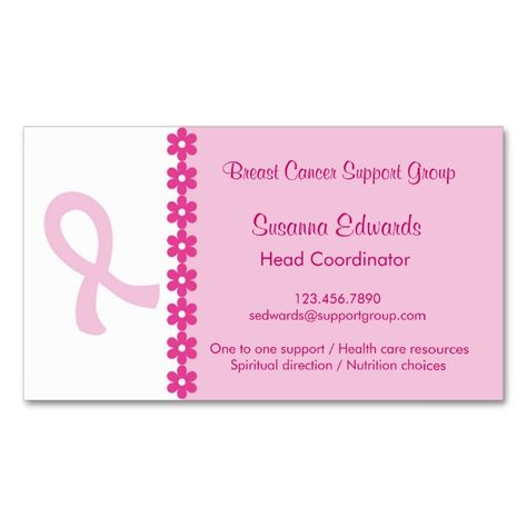 Pink Ribbon T Cancer Business Card This Great Design Is Available For Customization All Text Style Colors Sizes Can Be Modif