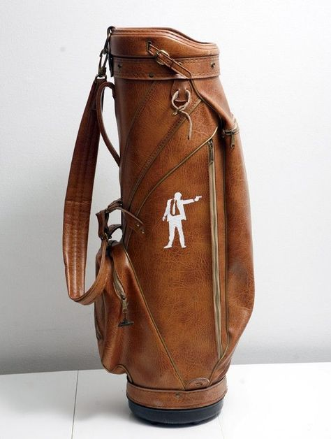Vintage Golf Bag Upcycled with Hand Painted Shooter! #golf #lorisgolfshoppe