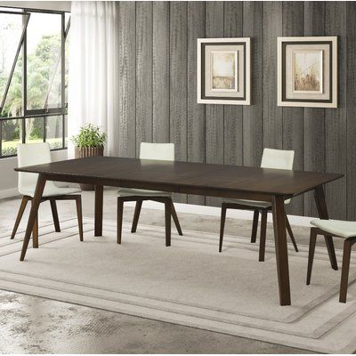 Union Rustic Caterina Extendable Dining Table Color Walnut Size 60 L X 36 W Wood Dining Table