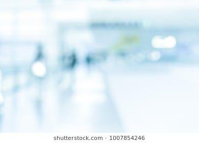 Blurred Office Background Modern Medical Interior Hospital