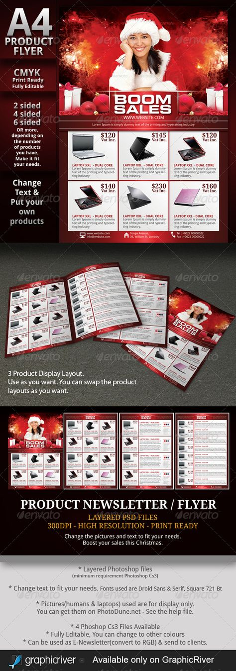 Electronic Products Flyer corporate templates Pinterest - product flyer