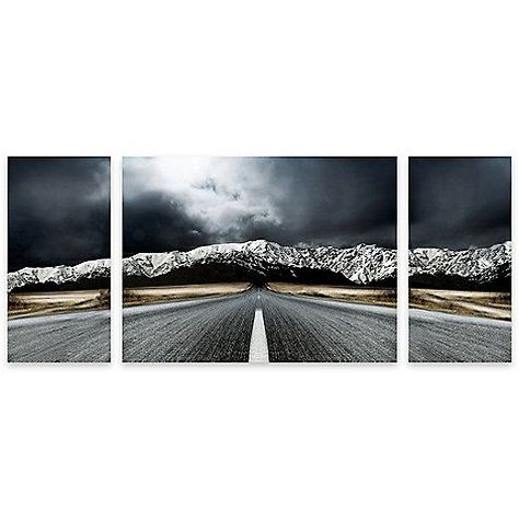 open road panel art   bed bath and beyond awesome wall