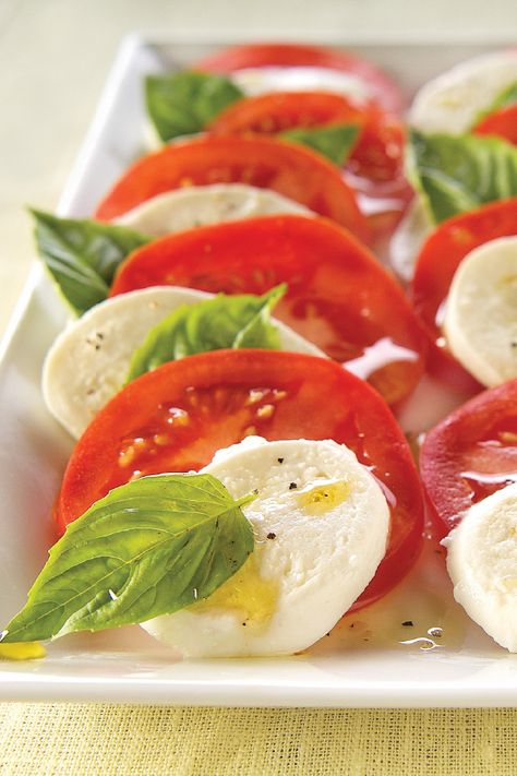 Insalata Caprese – Tomato, fresh mozzarella, and basil are essential in traditional Insalata Caprese. Here's our recipe, which is perfect for a crowd of nine. We simply adore side dish recipes that are filled with flavor!