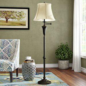 Andover Mills Obadiah 62 Swing Arm Floor Lamp Wayfair Swing Arm Floor Lamp Floor Lamp Traditional Floor Lamps