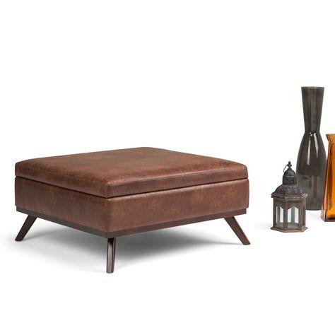 Strange Fontanne Leather Ottoman Square Inzonedesignstudio Interior Chair Design Inzonedesignstudiocom