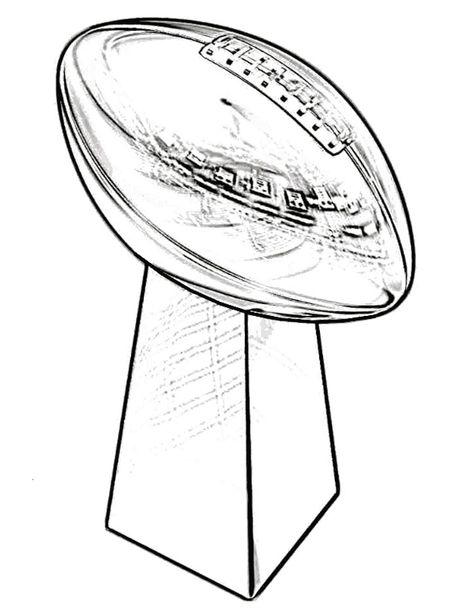 Trophy Super Bowl Coloring Page Super Bowl Super Bowl Trophy Super Bowl Decorations