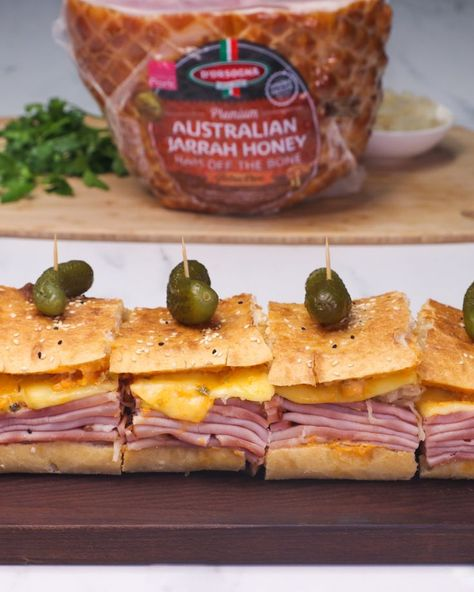 You call that a ham toastie? This is a ham toastie! Super-sized Reuben Style Sandwich made with D'Orsogna Premium Ham.