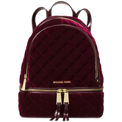 58c22651166d Michael Michael Kors Rhea Zip Medium Backpack (565 BRL) ❤ liked on Polyvore  featuring bags