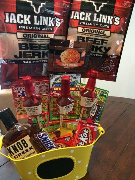 Diy Birthday Gift For Guy Man Boquet Gift Baskets Homemade