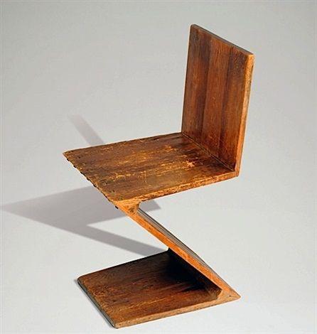 La Chaise Zig Zag Chair By Gerrit Rietveld Chair Zig Zag Chaise