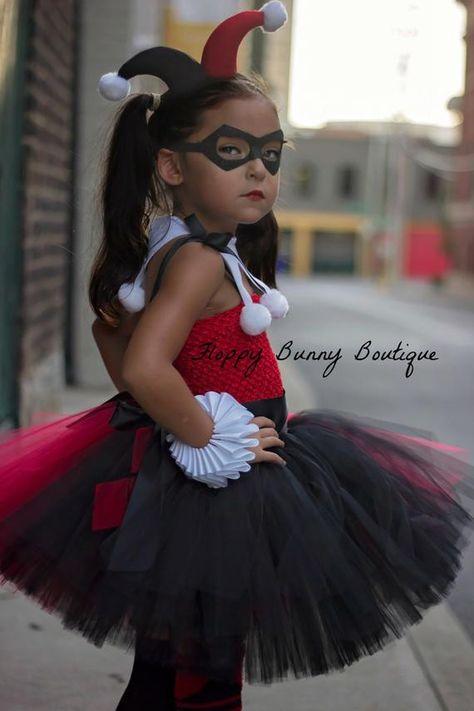Harley Quinn Inspired Tutu Dress Set Includes: - Dress - Collar He
