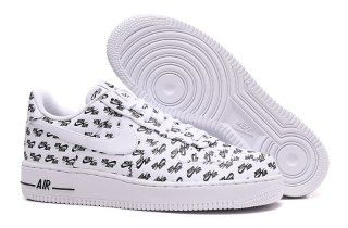 Mens Womens Nike Air Force 1 Low 07 QS All Over Logo White