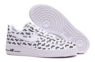 Neu Nike Air Force 1 `07 Qs WomensMens Low Top Black Black