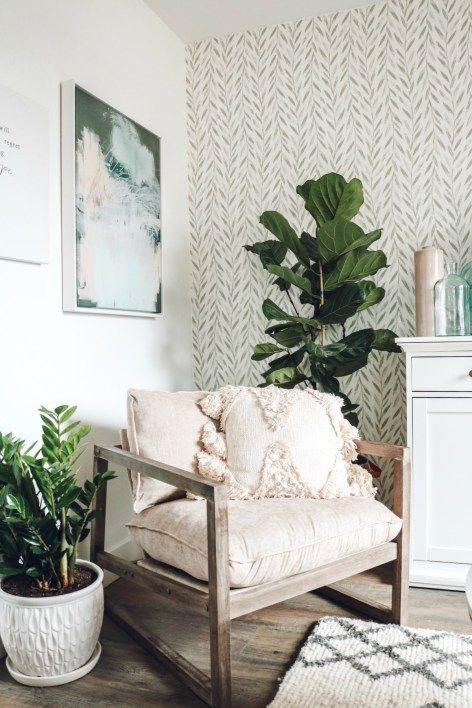 Mini Affordable Living Room Update With Joanna Gaines Wallpaper Nesting With Grace Living Room Update Affordable Living Rooms Living Room Designs