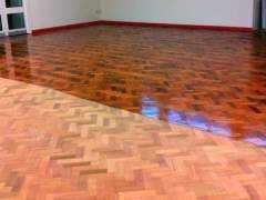 Flooring Before And After Coating With Varnish Refinishingfloors