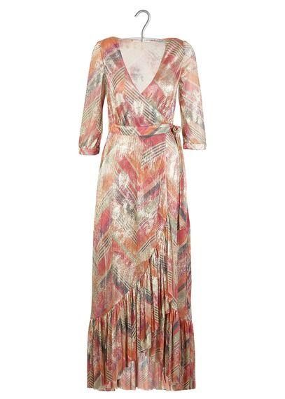 Nouvelle Collection Printemps Ete 2018 Robe Longue Cache Coeur Imprimee Details Lurex Multico Retrouvez La Gamme De Pr Robe Robe Longue Et Look Hippie Chic